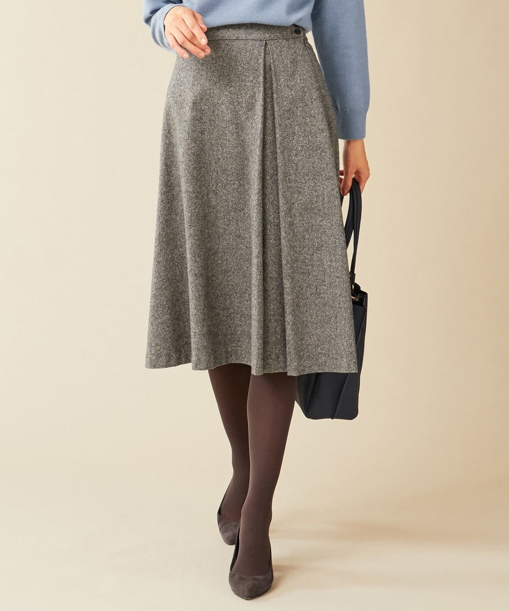 J.PRESS LADIES LA TORREツイード スカート グレー系