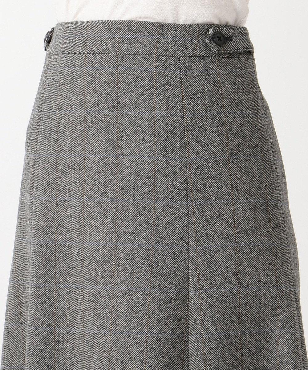 J.PRESS LADIES S ウールヘリンボン スカート グレー系3