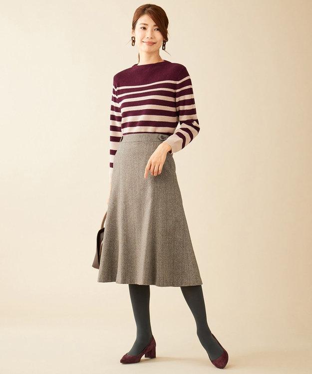 J.PRESS LADIES S ウールヘリンボン スカート