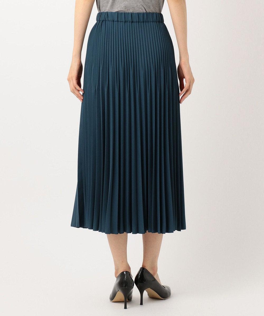 J.PRESS LADIES ファイン プリーツスカート グリーン系