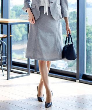 J.PRESS LADIES L 【ニオイ菌を抑える】ハイゲージモクロディー スカート グレー系