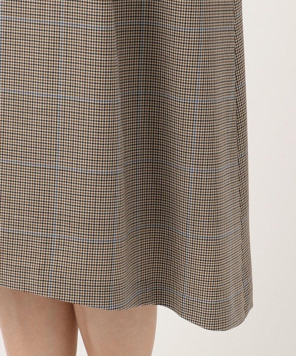 J.PRESS LADIES S 【軽い穿き心地】2WAYストレッチチェック スカート キャメル系3