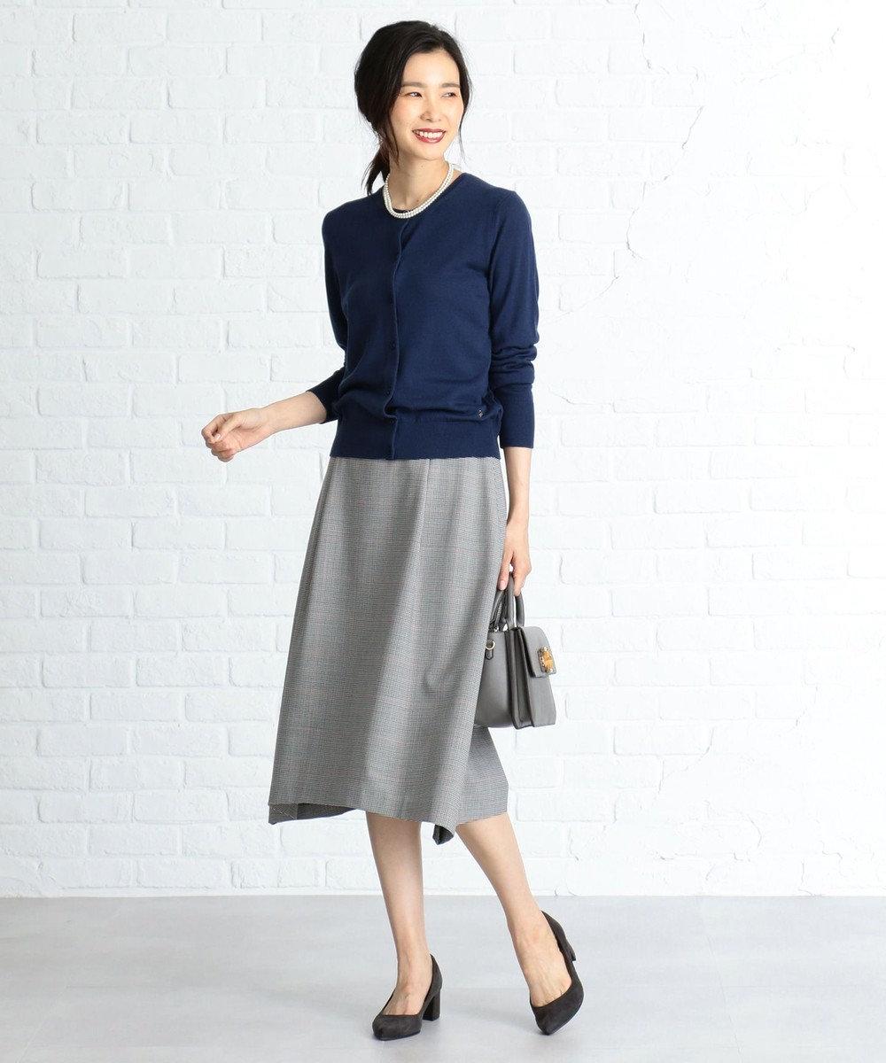 J.PRESS LADIES S 【軽い穿き心地】2WAYストレッチチェック スカート ブラック系3