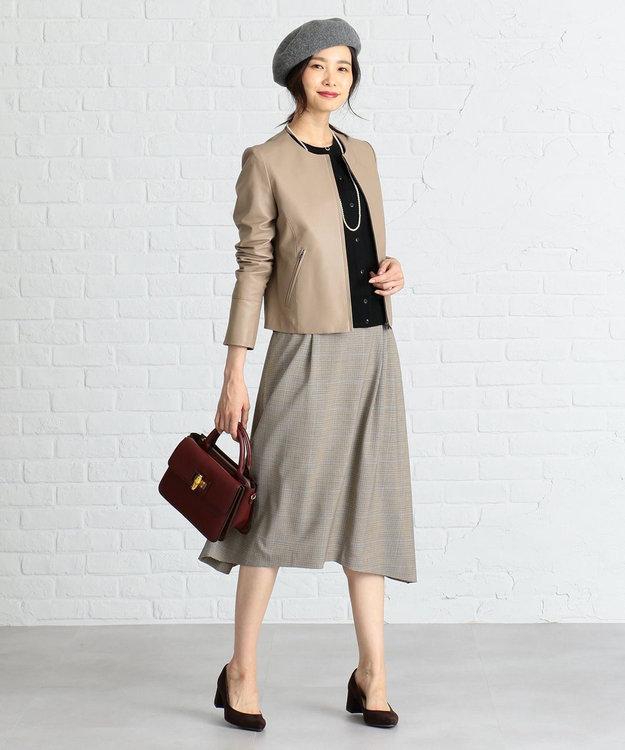 J.PRESS LADIES S 【軽い穿き心地】2WAYストレッチチェック スカート