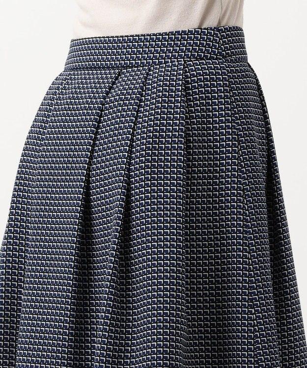 J.PRESS LADIES S 【洗える】Geometric Poly Twill スカート