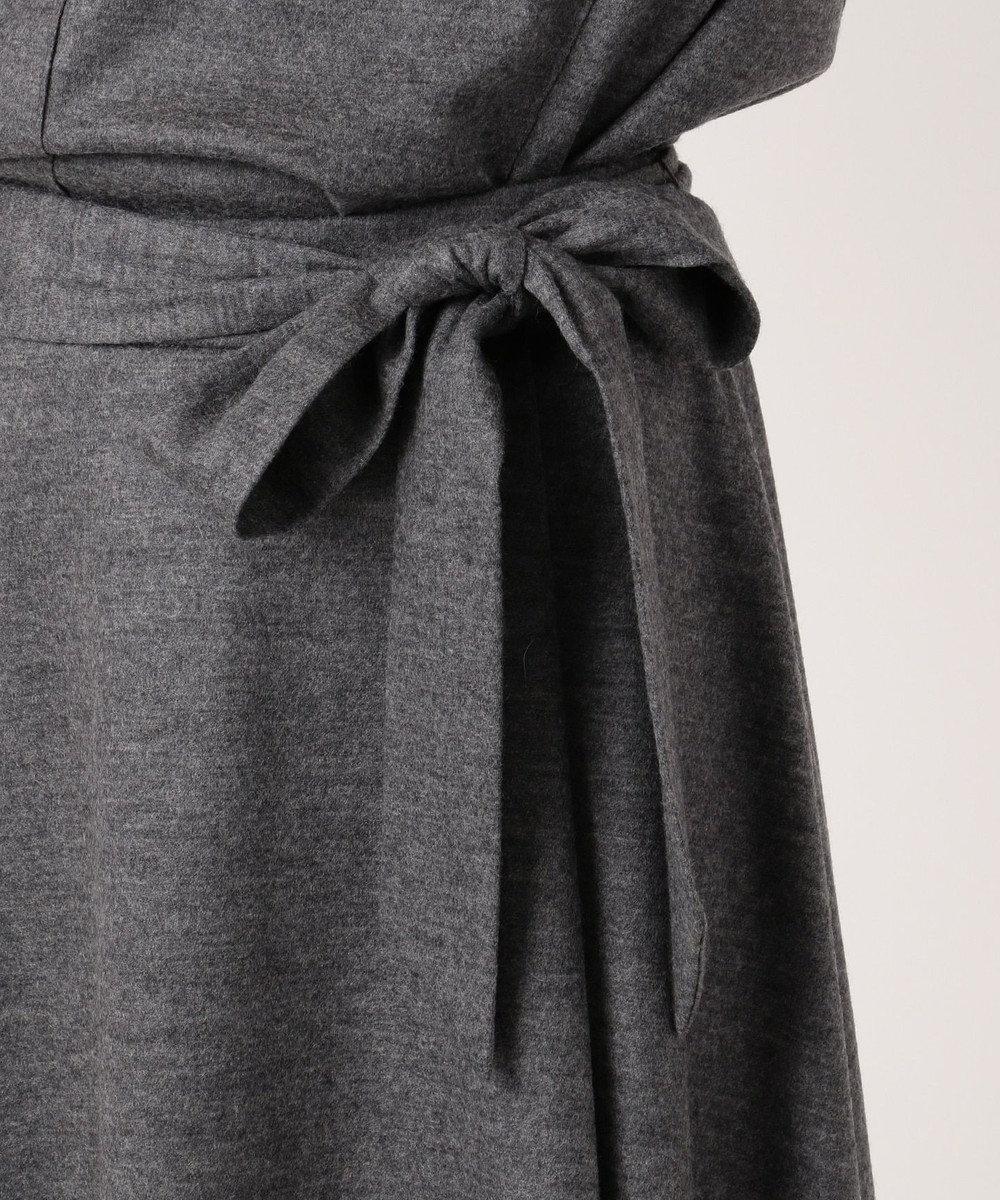 J.PRESS LADIES L 【洗える】ウールスムースジャージー スカート ライトグレー系