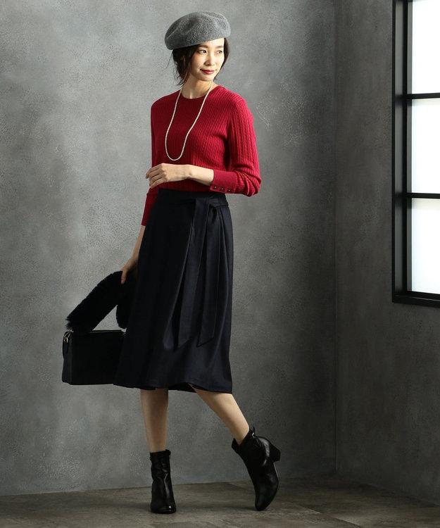 J.PRESS LADIES L 【洗える】ウールスムースジャージー スカート