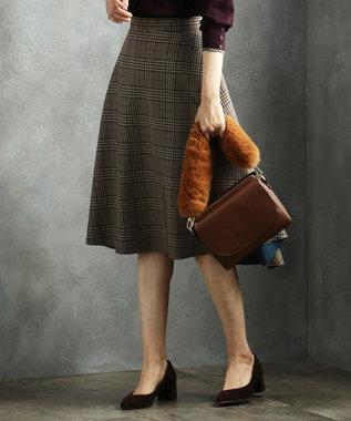 J.PRESS LADIES L 【リバーシブル】T/Rボンディング スカート ブラウン系3
