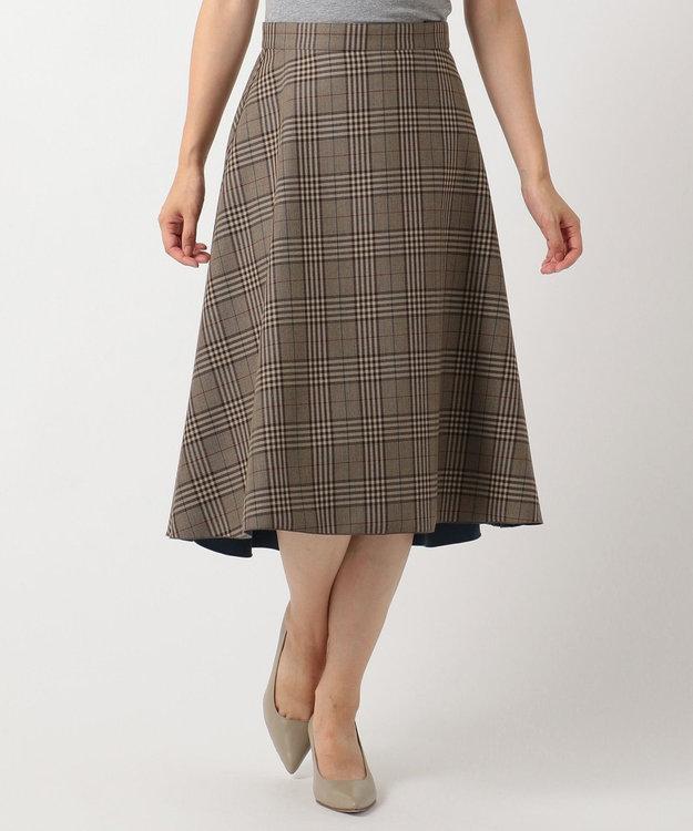 J.PRESS LADIES L 【リバーシブル】T/Rボンディング スカート