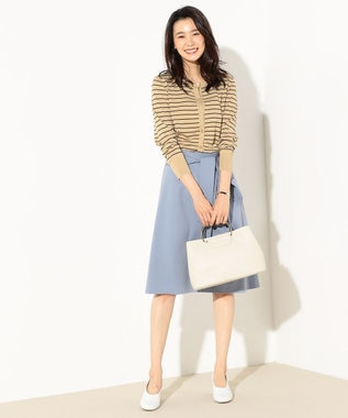 J.PRESS LADIES 【洗える】ツイルジャージー スカート サックスブルー系