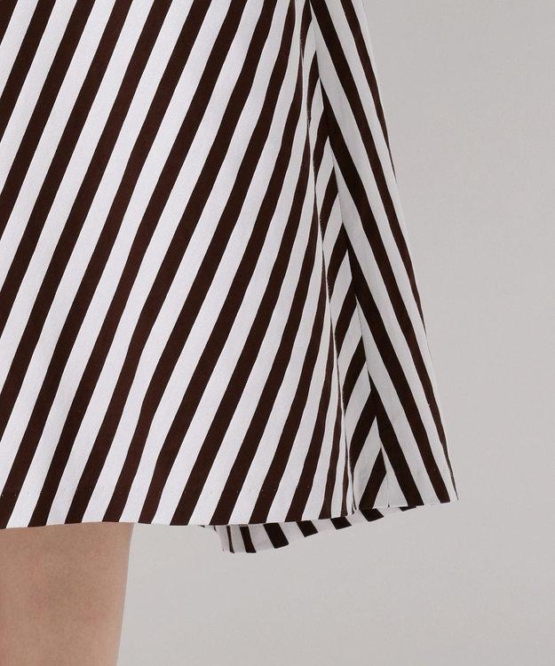 J.PRESS LADIES L 【洗える】コットンサテンストライプ スカート