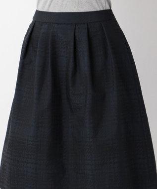 J.PRESS LADIES 【洗える!】ジオメトリックジャガード スカート ネイビー系3
