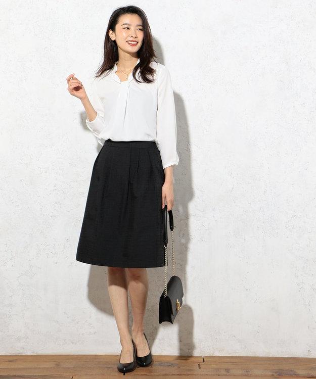 J.PRESS LADIES 【洗える!】ジオメトリックジャガード スカート