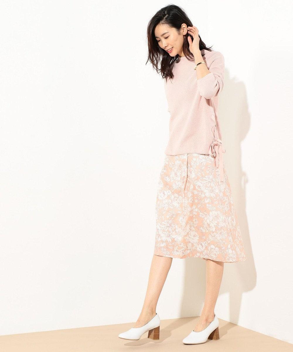 J.PRESS LADIES S 【洗える!】リバティプリント フレアスカート ローズ系5