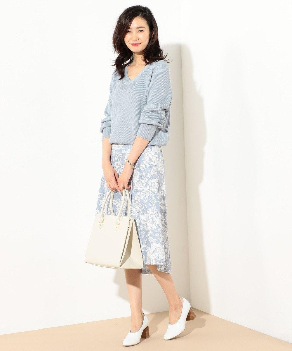 J.PRESS LADIES S 【洗える!】リバティプリント フレアスカート ブルー系5