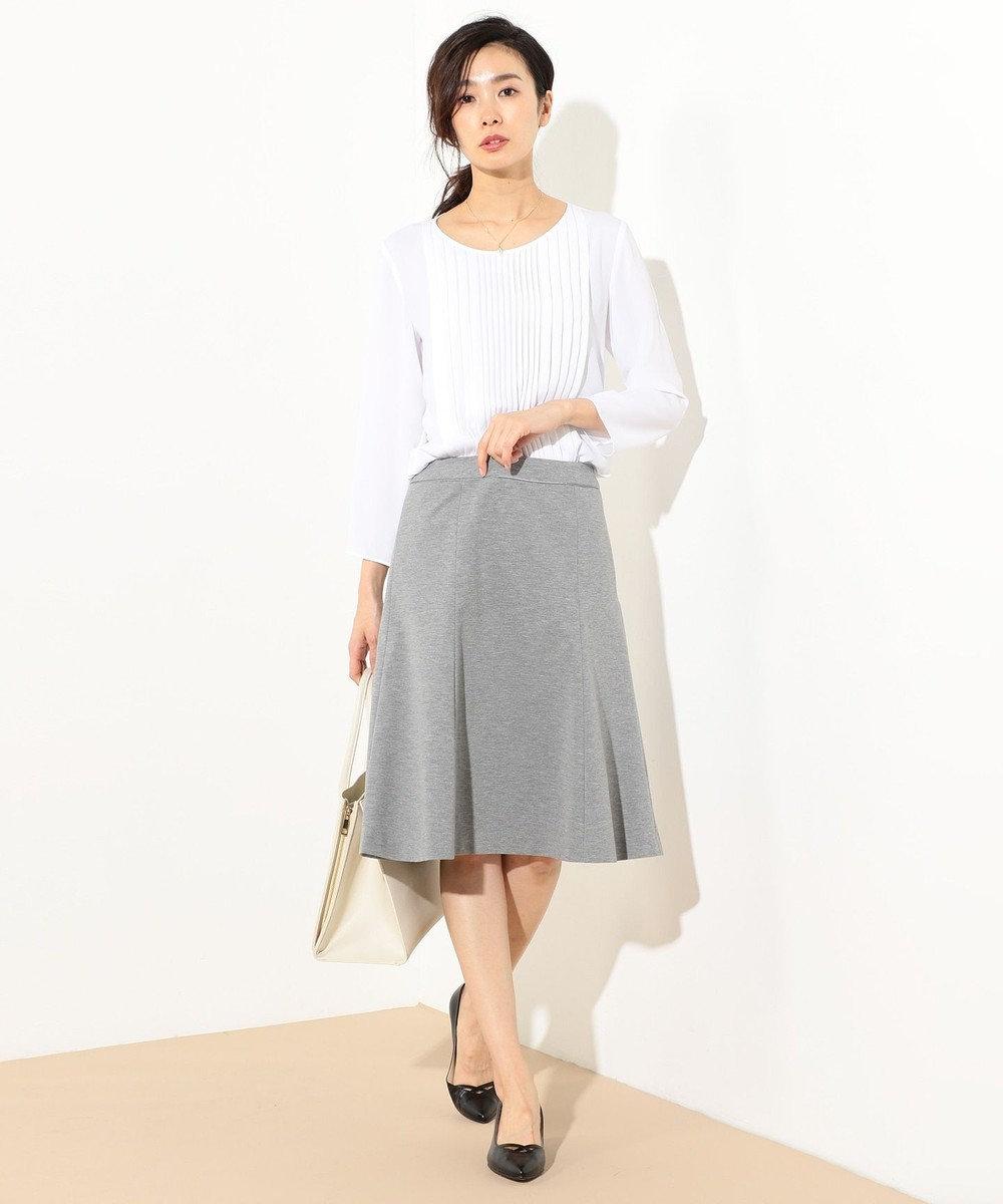 J.PRESS LADIES S 【セットアップ対応】アルファクロスジャージ スカート グレー系