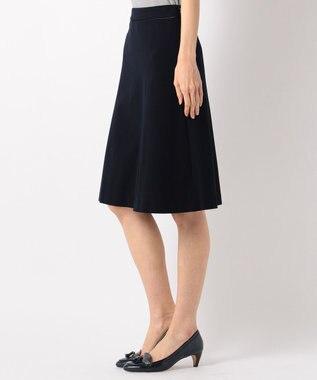J.PRESS LADIES S 【セットアップ対応】アルファクロスジャージ スカート ネイビー系
