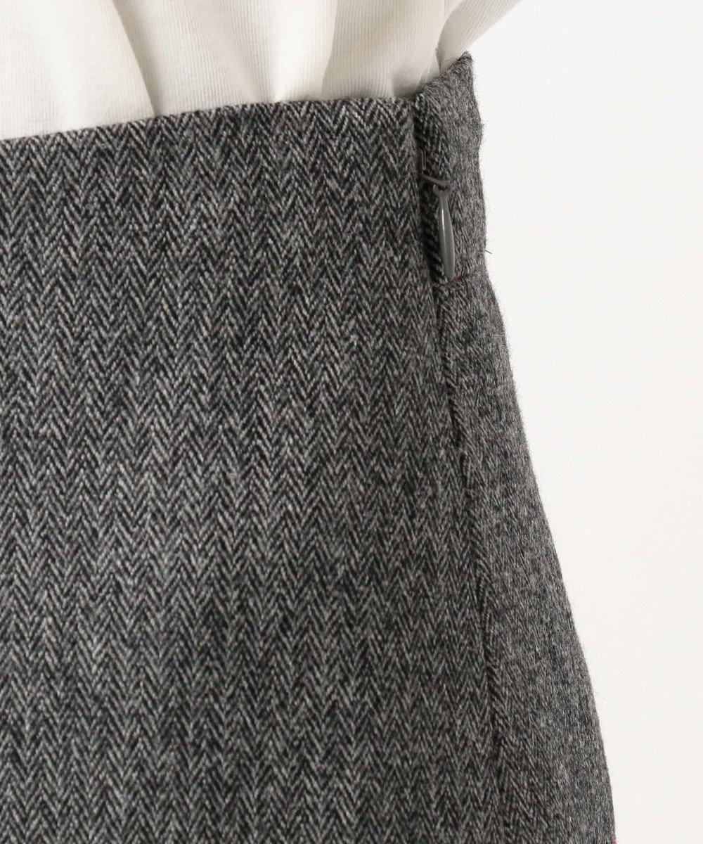 J.PRESS LADIES S 【スーツ対応】ウールストレッチヘリンボーン スカート グレー系7