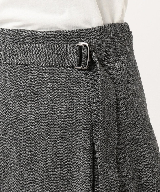 J.PRESS LADIES S 【スーツ対応】ウールストレッチヘリンボーン スカート
