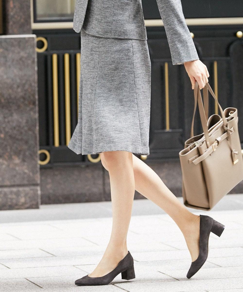 J.PRESS LADIES 【ストレッチ性抜群】ウール千鳥ジャカードジャージー スカート グレー系7