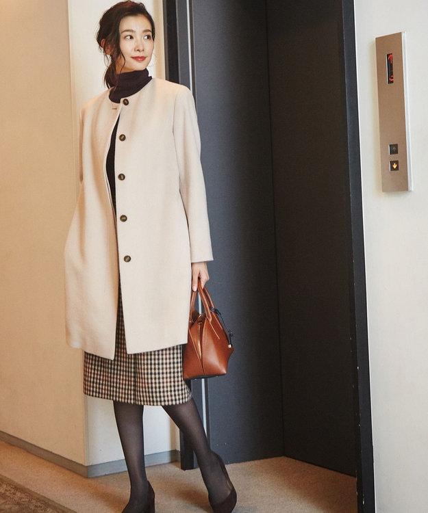 J.PRESS LADIES L 3/3綾ガンクラブチェック スカート