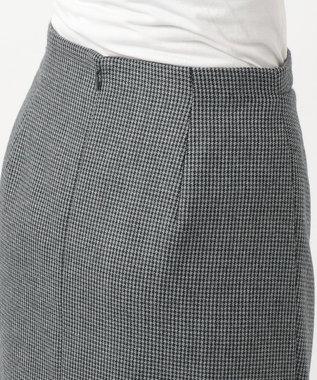 J.PRESS LADIES S 2/48ウールハウンドトゥース スカート グレー系7