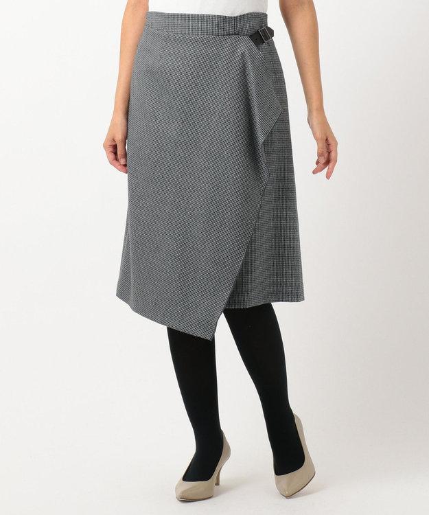 J.PRESS LADIES S 2/48ウールハウンドトゥース スカート