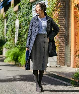 J.PRESS LADIES ワイドヘリンボン スカート グレー系7