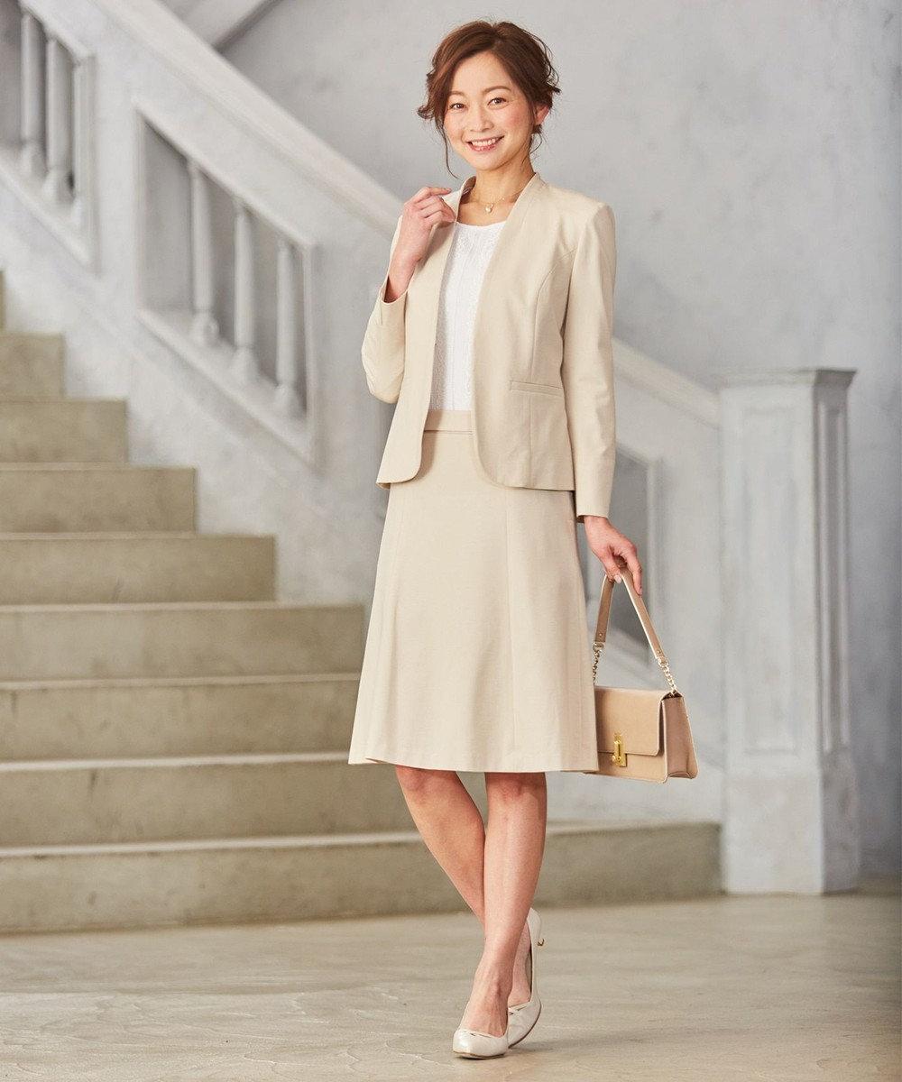 J.PRESS LADIES L 【セットアップ対応】アルファクロスジャージ スカート グレー系