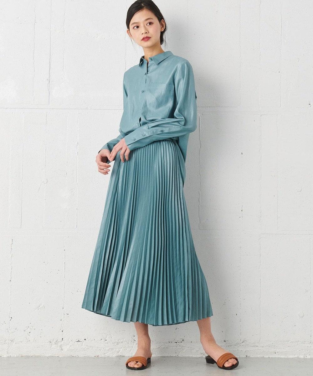 JOSEPH 【JOSEPH STUDIO・WEB限定カラーあり・洗える】メリベル プリーツスカート ダルブルー系
