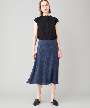 JOSEPH 【洗える】クイルシルク スカート ブルー系5