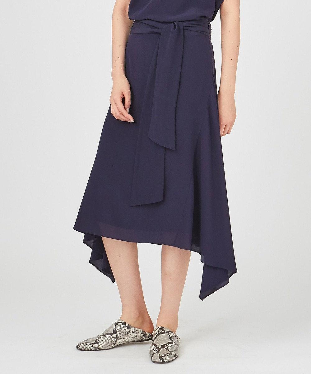 JOSEPH 【洗える】ALICE / マロックシルク スカート ネイビー系