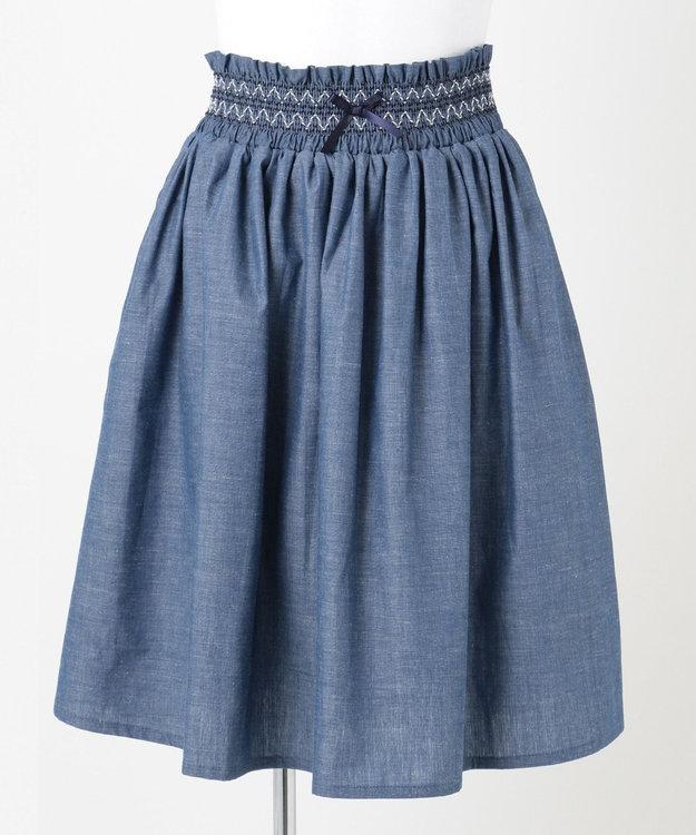 組曲 KIDS 【150-170cm】ダンガリースカート