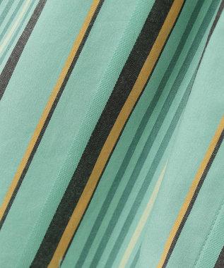 組曲 KIDS 【150-160cm】マルチストライプスカート グリーン系1