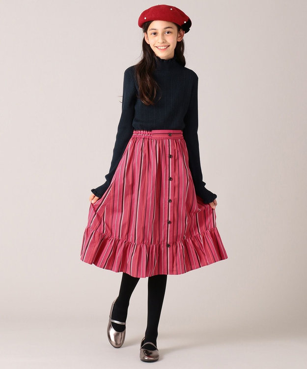 組曲 KIDS 【150-160cm】マルチストライプスカート