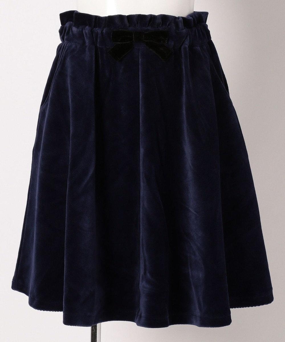組曲 KIDS 【SCHOOL】ストレッチコーデュロイ スカート ネイビー系