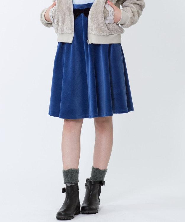 組曲 KIDS 【SCHOOL】ストレッチコーデュロイ スカート スカイブルー系