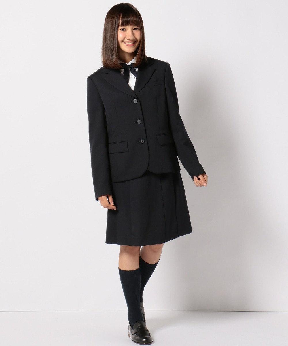 組曲 KIDS 【PURETE】フレアーギャバスカート ネイビー系