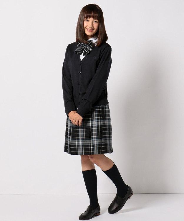 組曲 KIDS 【PURETE】ウール綾チェック スカート (リボン付き)