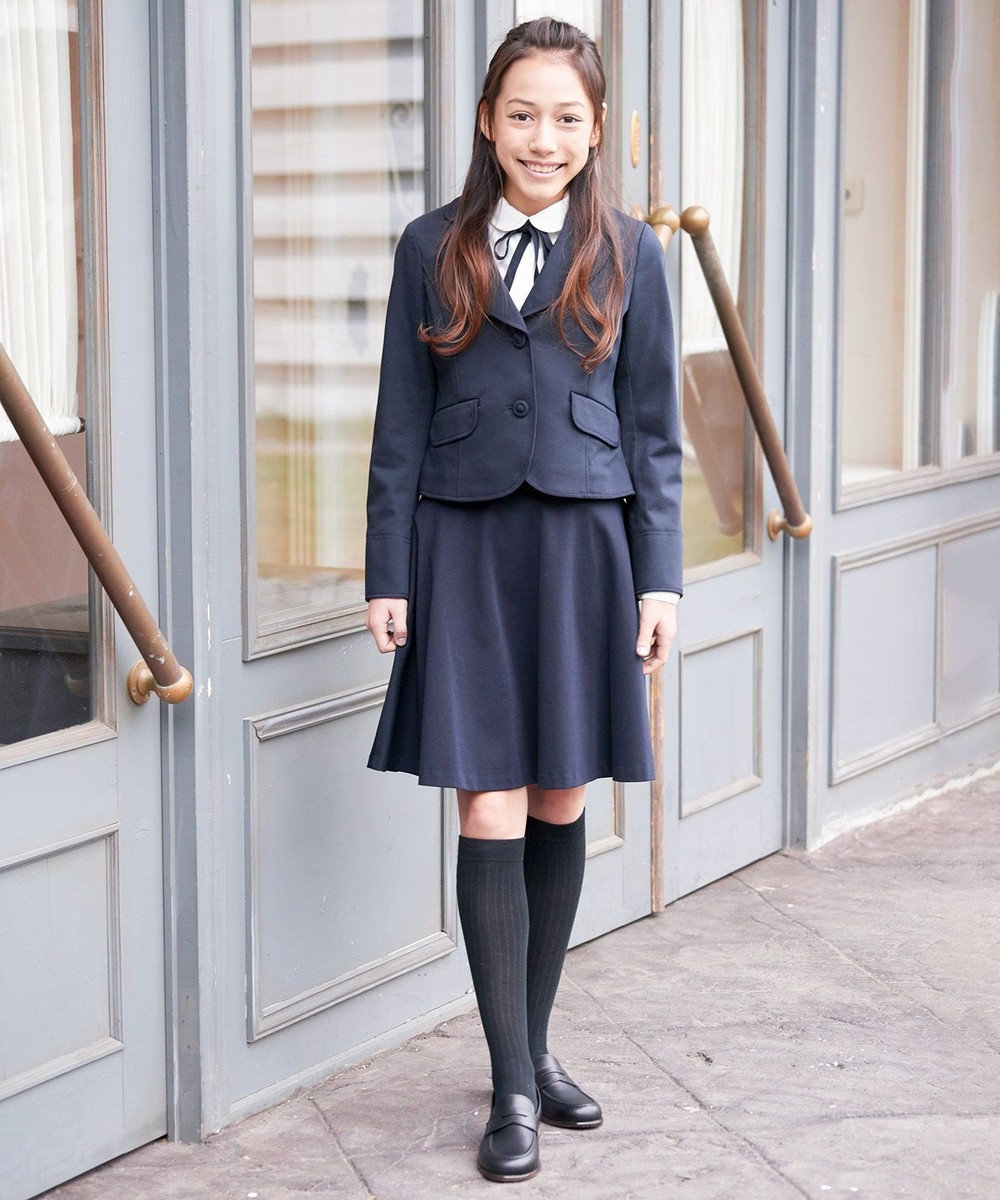 組曲 KIDS 【PURETE】80/ポンチ スカート ネイビー系
