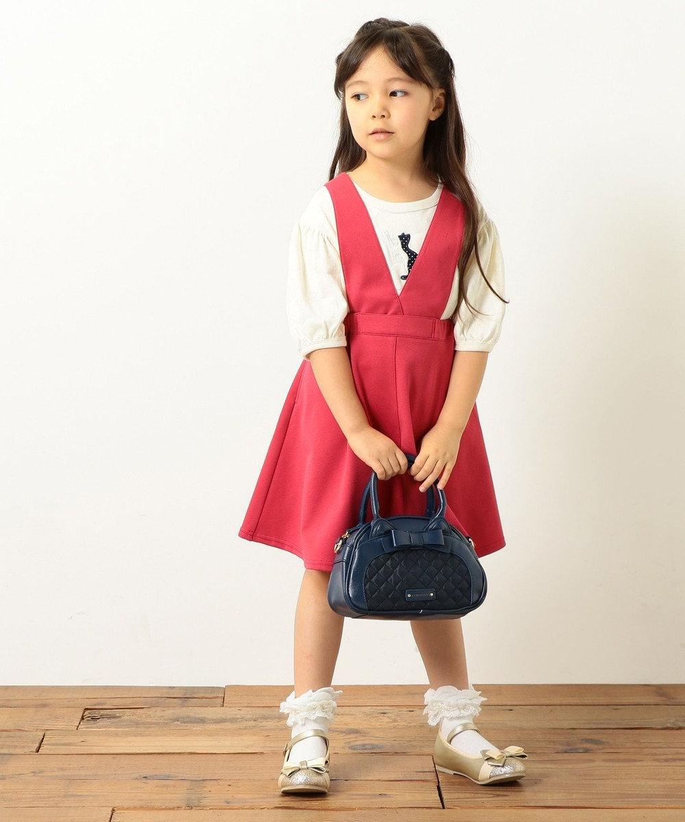 組曲 KIDS 【TODDLER】綿リヨセルグログラン スカート レッド系