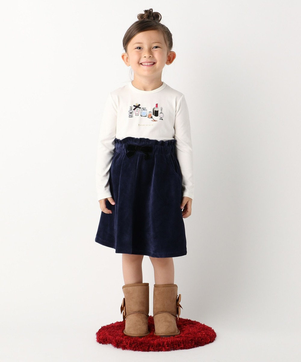 組曲 KIDS 【TODDLER】ストレッチコーデュロイ スカート ネイビー系
