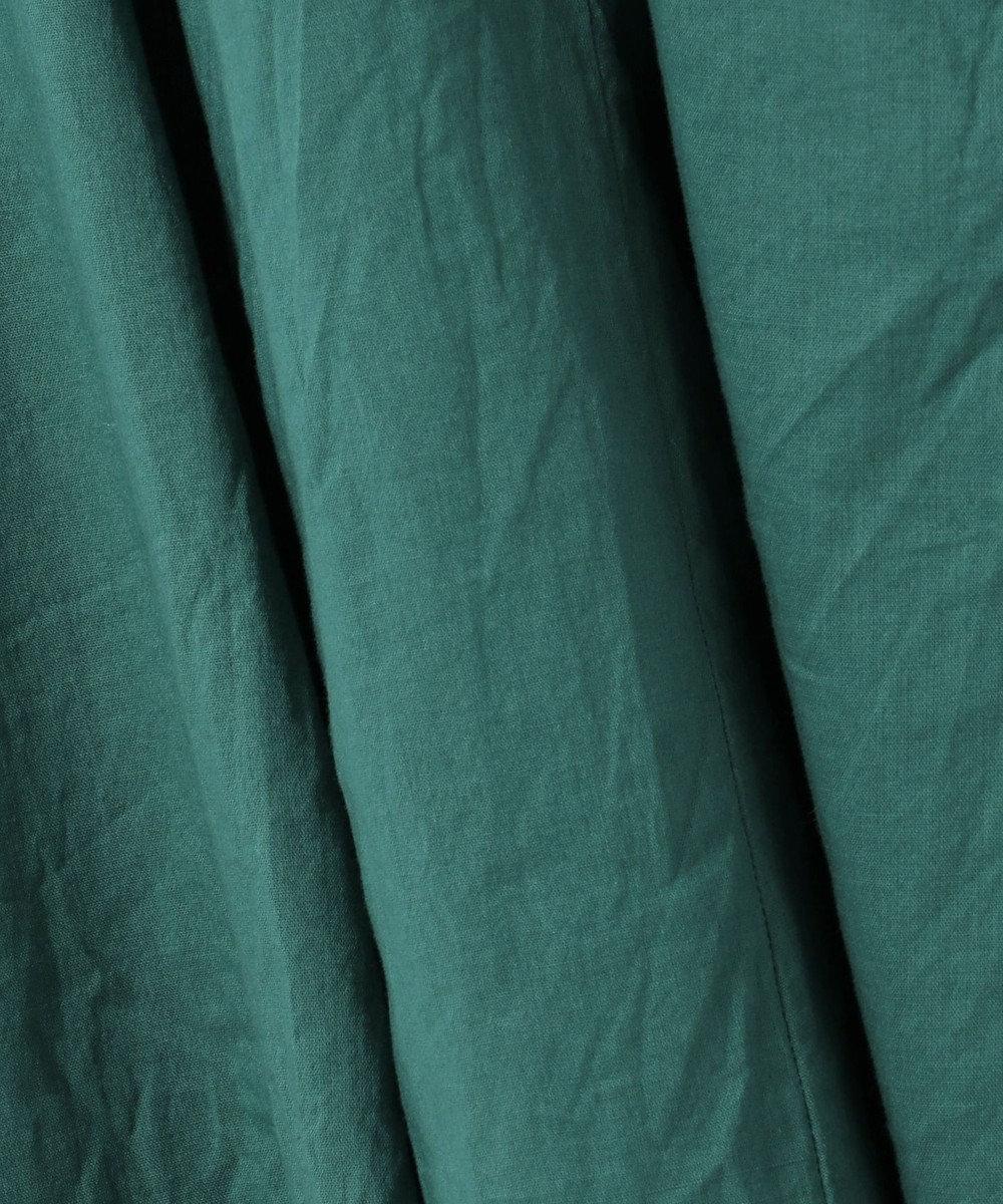SHARE PARK LADIES コットンボイルフレアスカート ダークグリーン系
