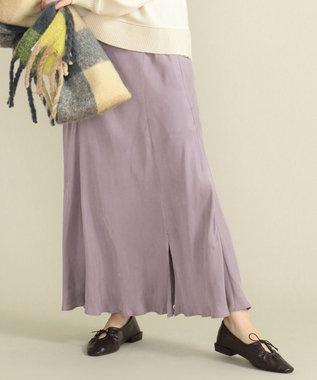 SHARE PARK LADIES フィブリルギャザーフレアスカート ピンク系