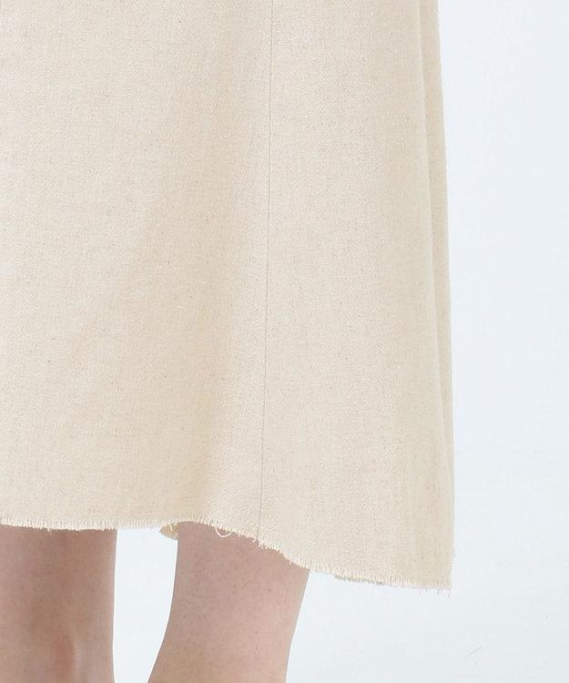 SHARE PARK LADIES 【洗える】リネン混ヘリンボーンマーメイドスカート