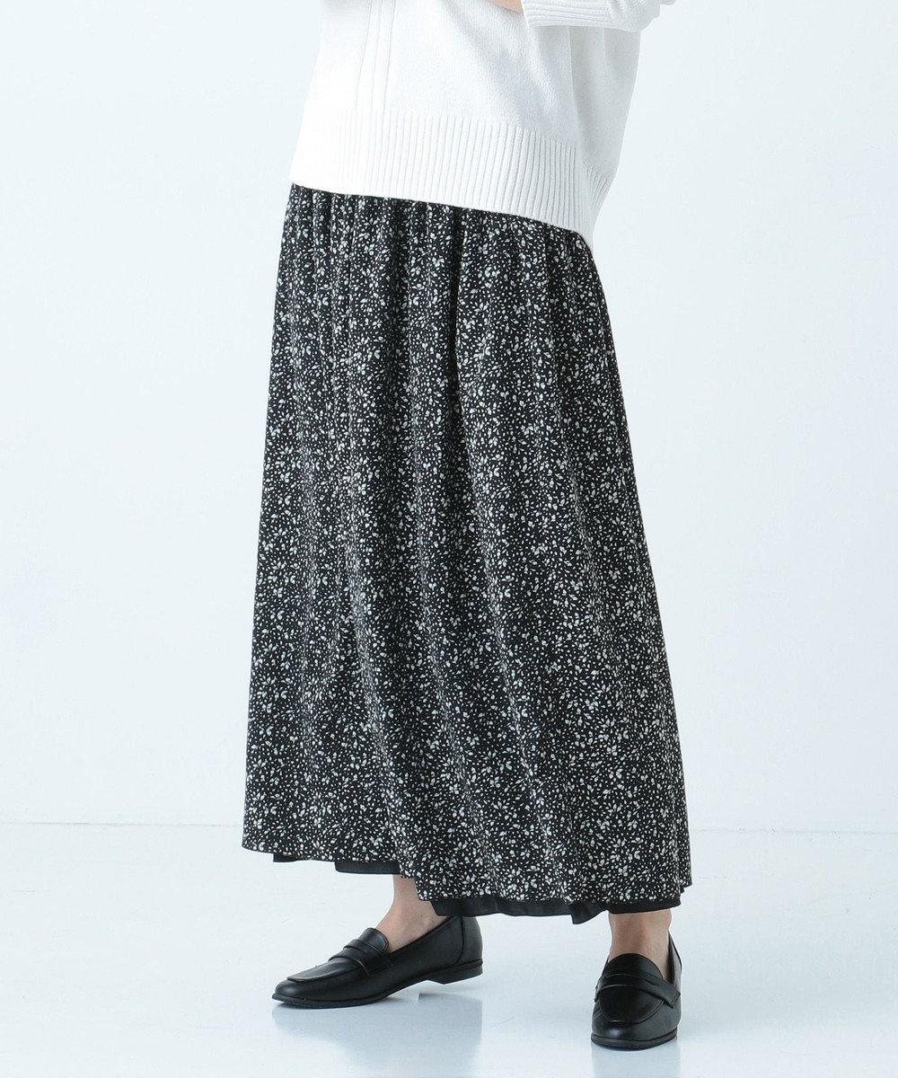SHARE PARK LADIES リバーシブル花柄スカート ブラック系6