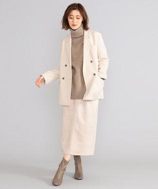 SHARE PARK LADIES 【洗える】エコスエードタイトロングスカート アイボリー系