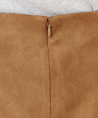 SHARE PARK LADIES 【洗える】エコスエードタイトロングスカート キャメル系