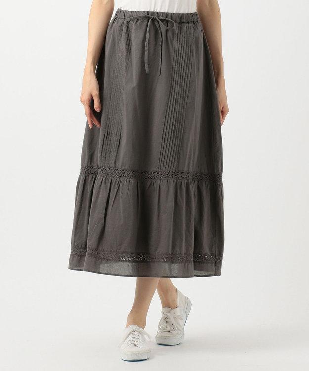 SHARE PARK LADIES 【洗える】レースコンビギャザー スカート