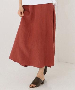 SHARE PARK LADIES テンセルリネンAラインロング スカート ピンク系
